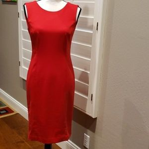 Great red sheeth dress like new